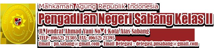 PENGADILAN NEGERI SABANG KELAS II Logo
